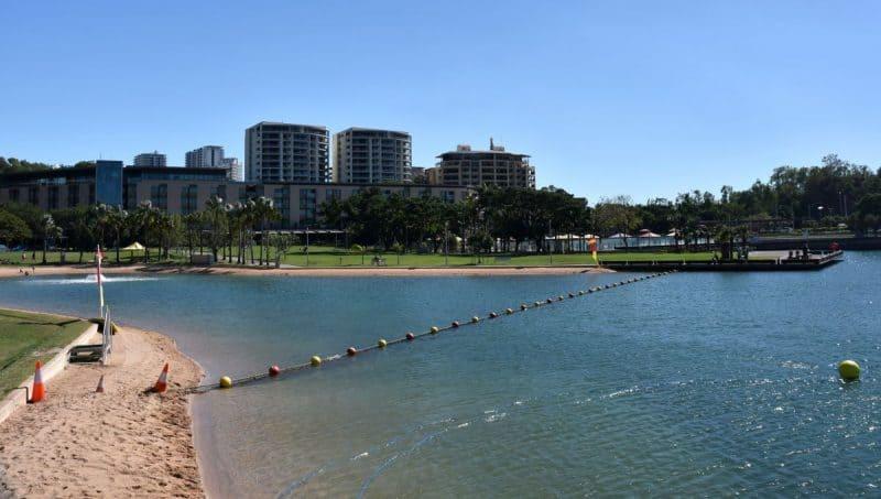View of Darwin Waterfront precinct in Northern Territory of Australia.